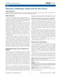 Plos Pathogens : Pertussis ; Challenges ... by Heitman, Joseph
