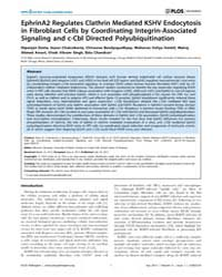 Plos Pathogens : Ephrina2 Regulates Clat... by Damania, Blossom