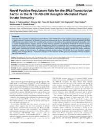 Plos Pathogens : Novel Positive Regulato... by Ausubel, Frederick, M.