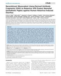 Plos Pathogens : Recombinant Monovalent ... by Sherry, Barbara