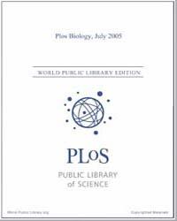 Plos : Biology, July 2005 by Bloom, Theodora