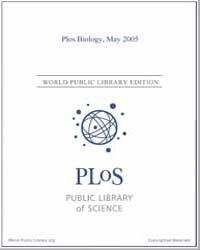Plos : Biology, May 2005 by Bloom, Theodora