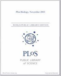 Plos : Biology, November 2003 by Bloom, Theodora