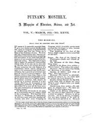 Putnam's Monthly Magazine of American Li... by G. P. Putnam & Co.