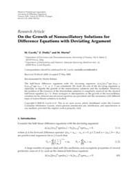 Advances in Difference Equations : June ... by Agarwal, Ravi P.