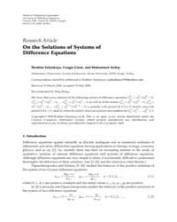 Advances in Difference Equations : May 2... by Agarwal, Ravi P.
