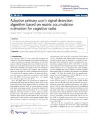 Eurasip Journal on Advances in Signal Pr... by Regalia, Phillip
