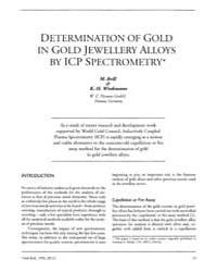 Gold Bulletin : Volume 25 - 4, Issue 1 ;... by Keel, Trevor