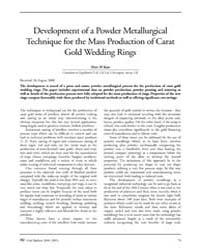 Gold Bulletin : Volume 33 - 4, Issue 3 ;... by Keel, Trevor