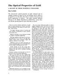 Gold Bulletin : Volume 5 - 4, Issue 1 ; ... by Keel, Trevor