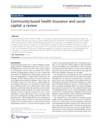 Health Economics Review : April 2012 by J.-matthias Graf Von Der Schulenburg