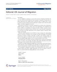 Iza Journal of Migration : Oct 2012 by Constant, Amelie