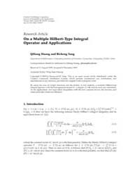 Journal of Inequalities and Applications... by Agarwal, Ravi P.