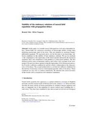 The Journal of Mathematical Neuroscience... by Coombes, Stephen