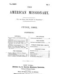 The American Missionary : Volume 0035, I... by American Missionary Association