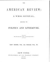 The American Whig Review : Volume 0009, ... by Wiley and Putnam