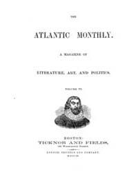 The Atlantic Monthly : Volume 0006, Issu... by Atlantic Monthly Co.