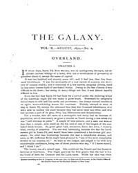 The Galaxy : Volume 0010, Issue 2 August... by Sheldon and Company