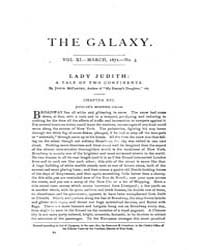 The Galaxy : Volume 0011, Issue 3 March ... by Sheldon and Company