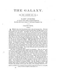 The Galaxy : Volume 0012, Issue 2 August... by Sheldon and Company