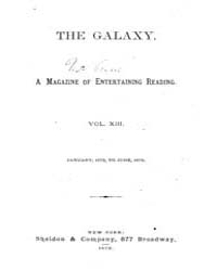 The Galaxy : Volume 0013, Issue 1 Januar... by Sheldon and Company