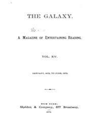 The Galaxy : Volume 0015, Issue 1 Januar... by Sheldon and Company