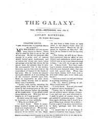 The Galaxy : Volume 0018, Issue 3 Septem... by Sheldon and Company