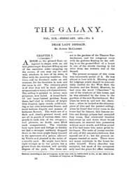 The Galaxy : Volume 0019, Issue 2 Februa... by Sheldon and Company