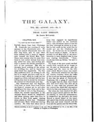 The Galaxy : Volume 0020, Issue 2 August... by Sheldon and Company