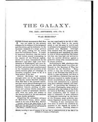 The Galaxy : Volume 0022, Issue 3 Septem... by Sheldon and Company
