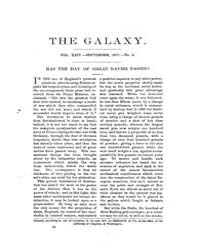 The Galaxy : Volume 0024, Issue 3 Sept 1... by Sheldon and Company