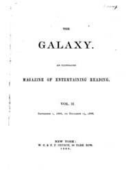The Galaxy : Volume 0002, Issue 1 Septem... by Sheldon and Company