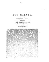 The Galaxy : Volume 0002, Issue 3 Octobe... by Sheldon and Company