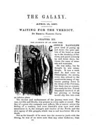 The Galaxy : Volume 0003, Issue 8 April ... by Sheldon and Company