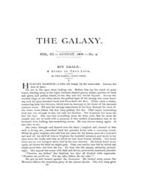 The Galaxy : Volume 0006, Issue 2 Aug 18... by Sheldon and Company