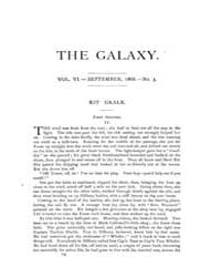 The Galaxy : Volume 0006, Issue 3 Sept 1... by Sheldon and Company