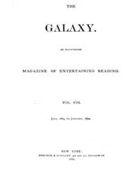 The Galaxy : Volume 0008, Issue 1 July 1... by Sheldon and Company