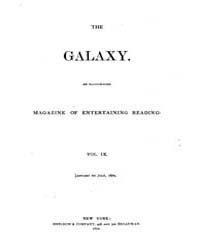 The Galaxy : Volume 0009, Issue 1 Januar... by Sheldon and Company