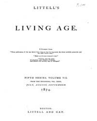 The Living Age : Volume 122, Issue 1569,... by The Living Age Company