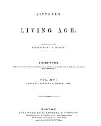 The Living Age : Volume 16, Issue 190, J... by The Living Age Company