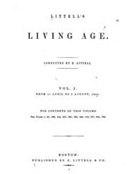 The Living Age : Volume 0001, Issue 1, M... by The Living Age Company