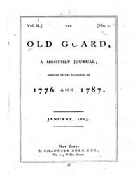 The Old Guard : Volume 0001, Issue 1 Jan... by C. Chauncey Burr and Co