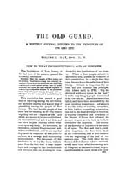 The Old Guard : Volume 0001, Issue 5 May... by C. Chauncey Burr and Co