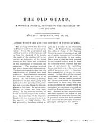 The Old Guard : Volume 0001, Issue 9 Sep... by C. Chauncey Burr and Co