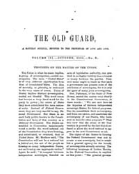 The Old Guard : Volume 0003, Issue 10 Oc... by C. Chauncey Burr and Co