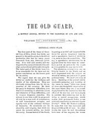 The Old Guard : Volume 0003, Issue 11 No... by C. Chauncey Burr and Co