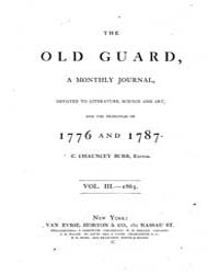The Old Guard : Volume 0003, Issue 1 Jan... by C. Chauncey Burr and Co