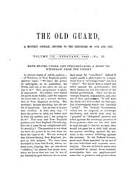 The Old Guard : Volume 0003, Issue 2 Feb... by C. Chauncey Burr and Co