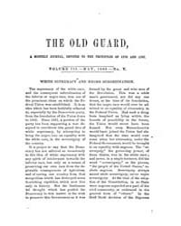 The Old Guard : Volume 0003, Issue 5 May... by C. Chauncey Burr and Co