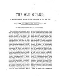 The Old Guard : Volume 0003, Issue 8 Aug... by C. Chauncey Burr and Co
